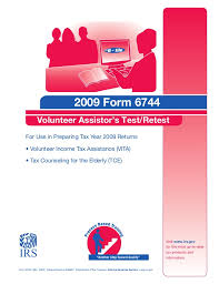 irs form 6744 2009 form 6744 test booklet