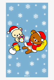 Christmas Wallpaper Cute Rilakkuma Transparent Png