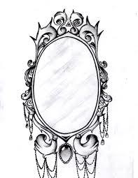 oval filigree frame tattoo. Drawn Mirror Baroque Pencil And In Color Oval Filigree Frame Tattoo S