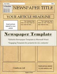 Old Fashioned Newspaper Article Template Old Fashioned Newspaper Template For Microsoft Word Kadil