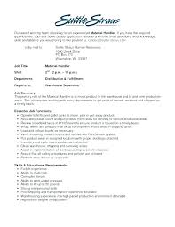 Material Handler Specialist Resume Sample Here Download – Hadenough