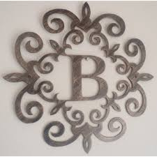 Metal Initials Wall Hanging Interesting Metal Decorative Letters Amazon Com  13 Vadecine Inspiration