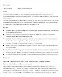 Resume For A Business Analyst Consultant Analyst Resume Business Objective Sample Free Download