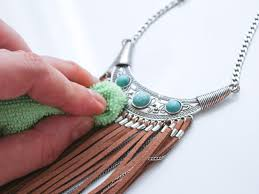 how to clean silver turquoise jewelry