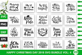 Cutting files for cutting machines cameo or cricut cutting files: 20 Merry Christmas Svg Bundle Vol 4 Graphic By Profactional Creative Fabrica Christmas Svg Merry Christmas Little Christmas