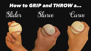 Baseball Pitching Grips How To Throw A Slider Slurve And Curve