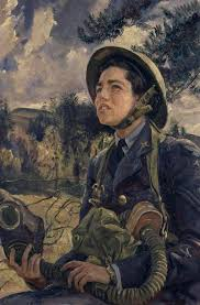 world war ii depicting the women hard at work at home as well as the nuremberg trials self portrait with model is one of knight s most famous pieces