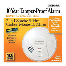 usi electric smoke detector manual hallway year tamper proof permanent power sealed battery 2 in 1 photoelectric
