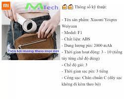 Quạt Không Cánh Cầm Tay Xiaomi Youpin Weiyuan Sạc USB Tiện Lợi Pin 10 Tiếng  Thích Hợp Đi Học Đi Chơi