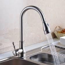 luxury gold brushed nickel kitchen sink water tap brass sink kitchen faucet spray head shower