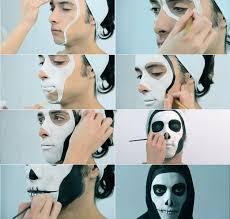 diy makeup ideas for guys makeup tutorial men skull face step step fall