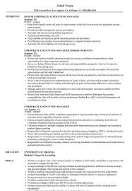 Corporate Accounting Manager Resume Samples Velvet Jobs