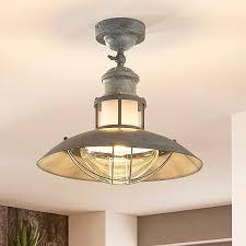Deckenlampe Louisanne Rustikal Betongrau Industrieller Stil