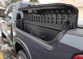 a storage box on the outside of the truck