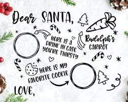 Next day delivery and free returns to store. Santa Plate Svg Etsy