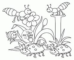 Small Picture Coloring Pages Free Spring Coloring Pages For Toddlers Spring