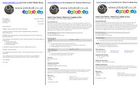 Brilliant Ideas Of Jobsball Cv And Cover Letter Made Easy With Cover