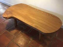 solid timber slab coffee table image 1 of 3