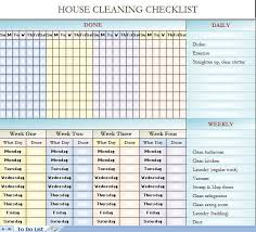 Cleaning Checklist Template Free Cleaning Schedule Template For Home Barca Fontanacountryinn Com