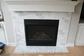 carrara white marble subway tiles fireplace surround thinkrock stone xiamen thinkrock stone imp exp co ltd