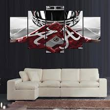 >alabama crimson tide college football team print canvas art wall  alabama crimson tide college football team print canvas art wall framed unframed ash wall decor