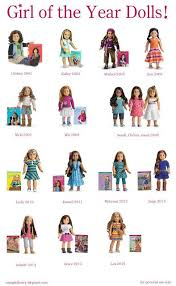 My American Girl Doll Story Ag Doll Charts American Girl