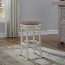 antique white bar stools. Interior American Woodcrafters Aversa In Distressed Antique White Leather Backless Swivel Bar Stools Counter Stool Wood I