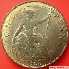 1920 Uk Penny Value George V