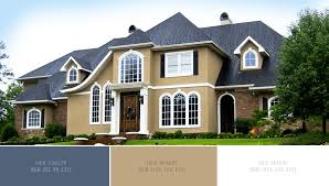 cream white exterior paint color combinations