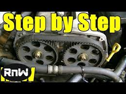 Kia Spectra Timing Belt Replacement - 1.8L DOHC Engine Part 1 - YouTube