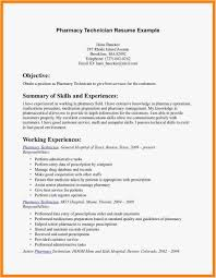 27 Resume For Pharmacy Technician Free Best Resume Templates