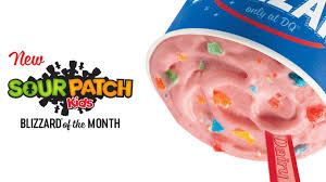 Dairy Queen Blizzard Nutrition Chart Dairy Queen Introduces New Sour Patch Kids Blizzard Chew Boom