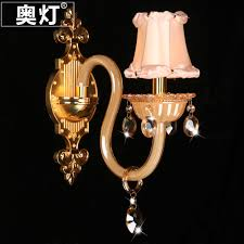 get quotations austrian lamp zinc alloy crystal wall lamp bedroom bedside lamp european mirror front lamps past pink