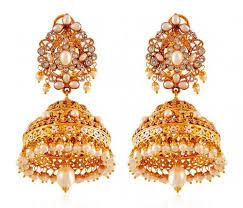 gold chandelier stani earrings