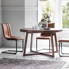brown boho chic round dining table