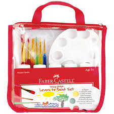 com faber castell young artist learn to paint set washable paint set for kids toys