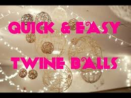 How To Make String Ball Decorations Fascinating How To Make DIY Christmas Twine String Ball Ornaments Lantern