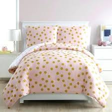 pink polka dot sheets full gold bedding dotty 3 piece comforter set