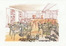 interior sketch of