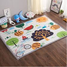 details about ustide baby play mat cotton floor gym non toxic non slip reversible washabl