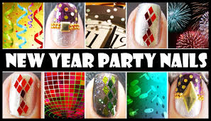 NEW YEAR PARTY NAILS | GLITTER NAIL ART DESIGN TUTORIALS EASY ...