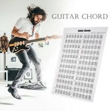 Details About New Acoustic Electric Guitar Chord Scale Chart Poster Tool Lessons 16x24inch