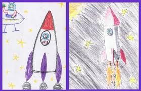 Rysujemy rakietę etapami. Jak narysować rakietę: kilka prostych sposobów,  aby pomóc osobie dorosłej
