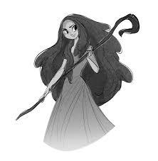 Art of Miranda Yeo  Sketching! Always ladies with staves