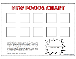 Try New Food Chart From Picky To Eater New Foods Chart