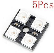 HYY-YY 5Pcs <b>CJMCU 4 Bit WS2812</b> 5050 RGB LED Driver ...