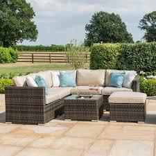 rattan garden furniture brown london