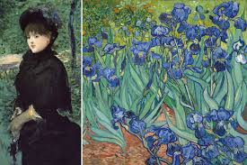 he had a penchant for paintings la promenade by manet and irises by van gogh