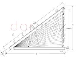 The Cambridge Triangle  Shaped Blinds  Avanti Blinds And Blinds Triangular Windows