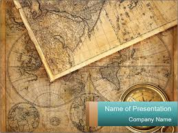 Old Maps From Vintage Shop Powerpoint Template Infographics Slides